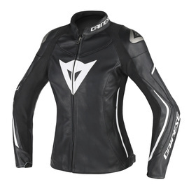 Dainese giacca pelle Assen donna Black  white