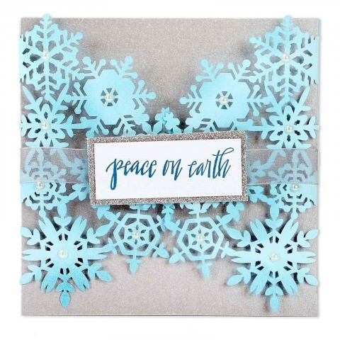 THINLITS DIES SNOWFLAKES CARD by SHARYA SOWELL