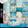 "ALBUM PAPER PAD CB ""UNDER THE OCEAN"" cm 30X30 cf. 12 fg 190GR."