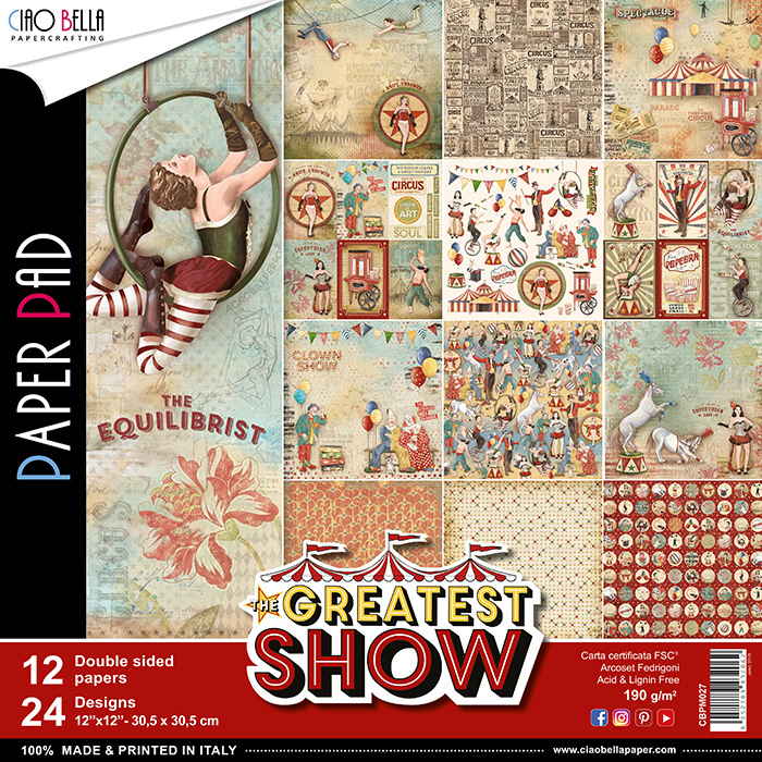 ALBUM CIAOBELLA - GREATEST SHOW DOUBLE-SIDED PAPER PAD 30,5X30,5CM