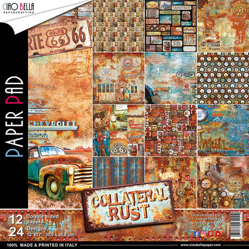 ALBUM CIAOBELLA - COLLATERAL RUST DOUBLE-SIDED PAPER PAD 30,5X30,5CM