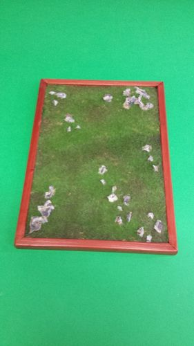 wooden base to place soldiers cm 22x30,5