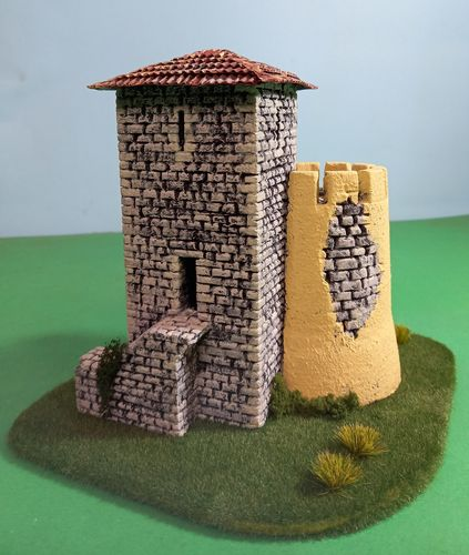 Old tower for Nativity scenes