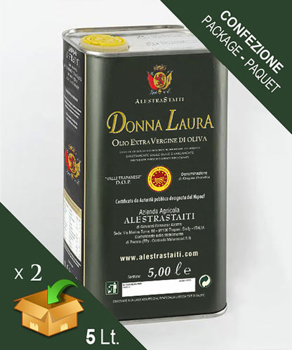 """Donna Laura"" D.O.P. - ExtraVirgin Olive Oil box 2 cans by 5 litres"