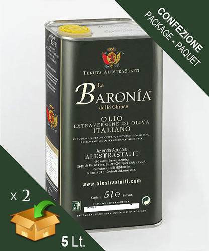 """La Baronìa delle Chiuse"" HQ Classic - ExtraVirgin Olive Oil box 2 cans by 5 litres"