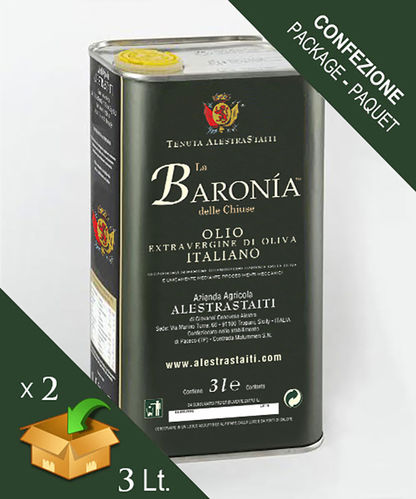 """La Baronìa delle Chiuse"" HQ Classic - ExtraVirgin Olive Oil box 2 cans by 3 litres"