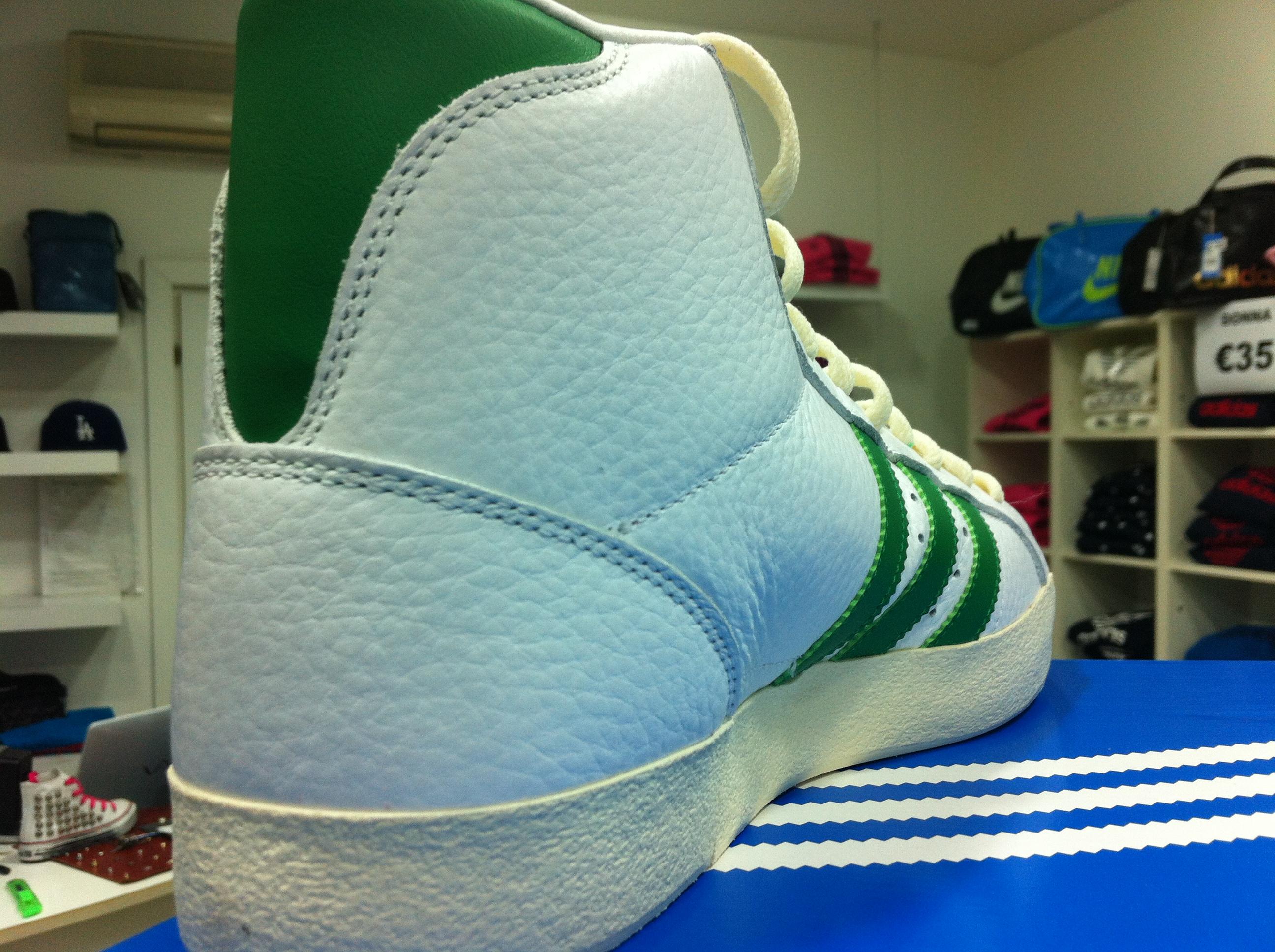 adidas basket profi pelle bianche