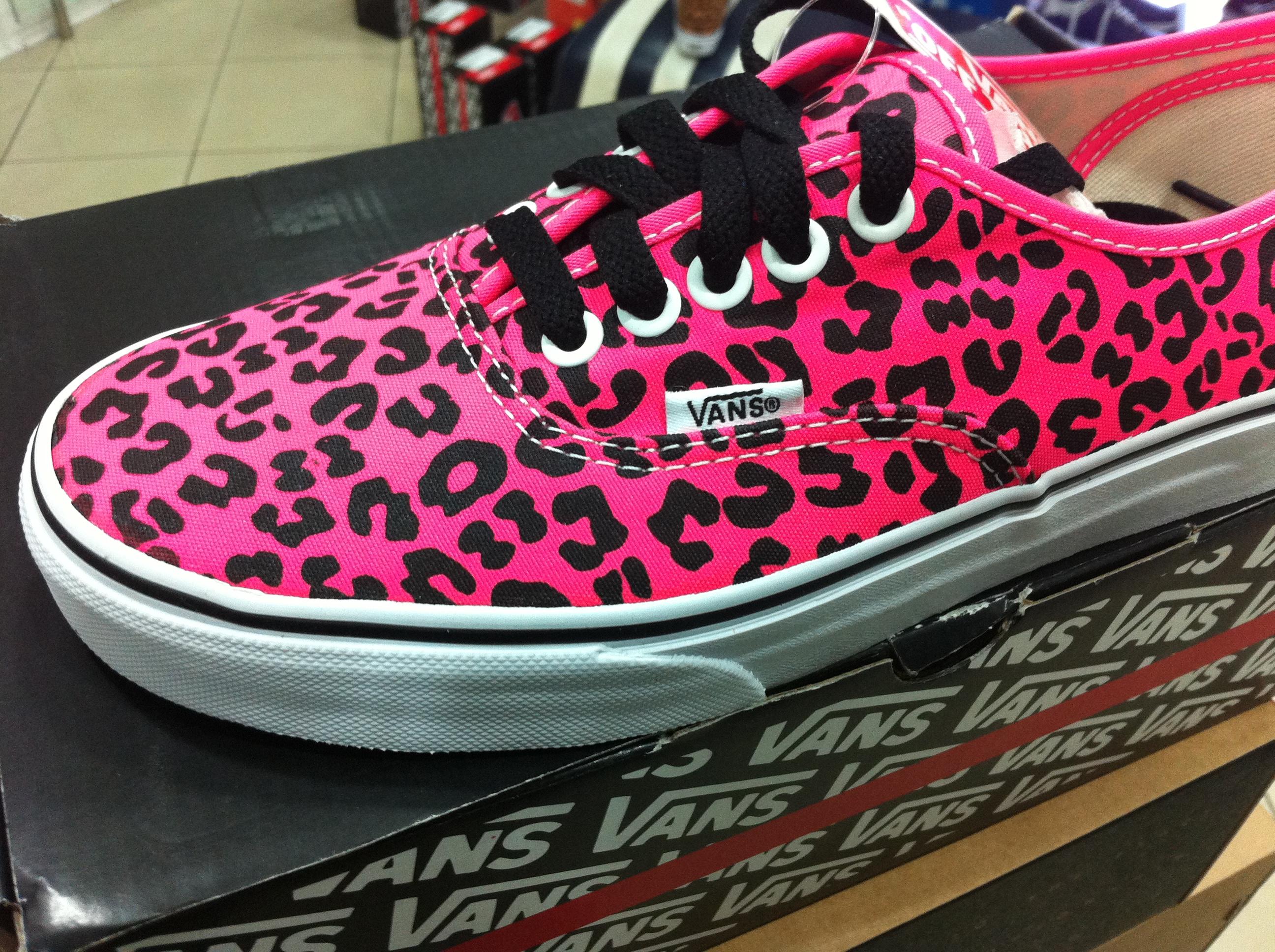 5a9db8b5f2 Scarpe Vans Leopardate Neon Rosa   Pink - Shopping Sport Scarpe