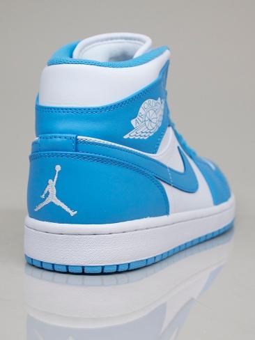 air jordan 1 mid bianche azzurre