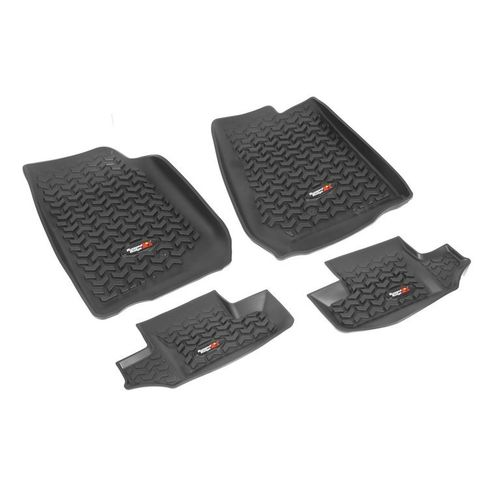 RUGGED RIDGE - FLOOR LINERS FRONT+REAR JEEP WRANGLER JK 2 DOORS