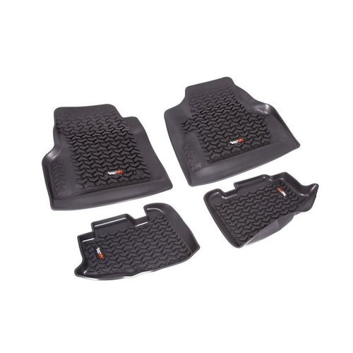 RUGGED RIDGE - FLOOR LINERS FRONT+REAR JEEP WRANGLER TJ