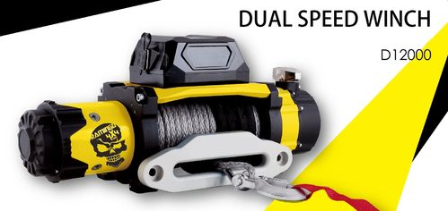 ***RAMINGO 4X4 - 12000 DYNEEMA ROPE ELECTRIC WINCH -12V - DOUBLE SPEED