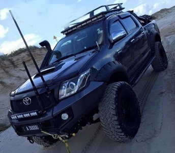 +95 MM EXTENDED FLARES TOYOTA HILUX 2012-2015