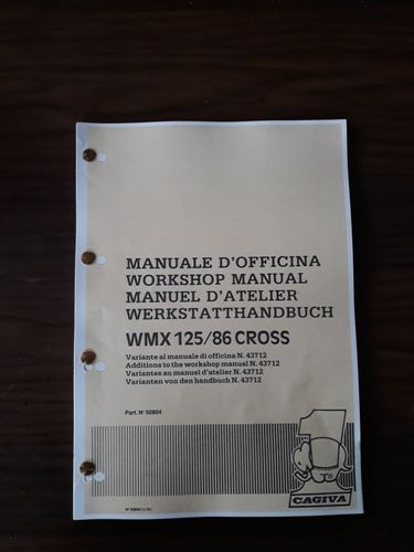 MANUALE D'OFFICINA CAGIVA WMX 125 1986
