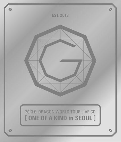 G-Dragon-2013 G-DRAGON WORLD TOUR LIVE CD[ONE OF A KIND in SEOUL](Silver Ver+Booklet)