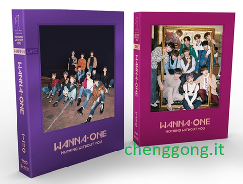 WANNA ONE Mini Album Vol.1 Repackage:1-1=0 (Nothing Without You) (Wanna Ver.)+poster in tubo