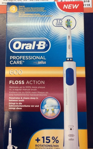 Spazzolino elettrico Braun Oral B Professional Care 600 Floss Action