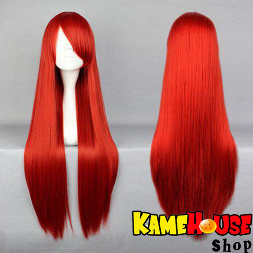 Straight wig 100 cm - Red