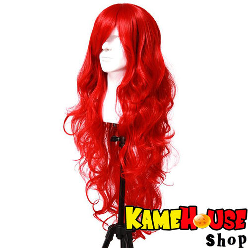 Curly wig 80 cm -Red