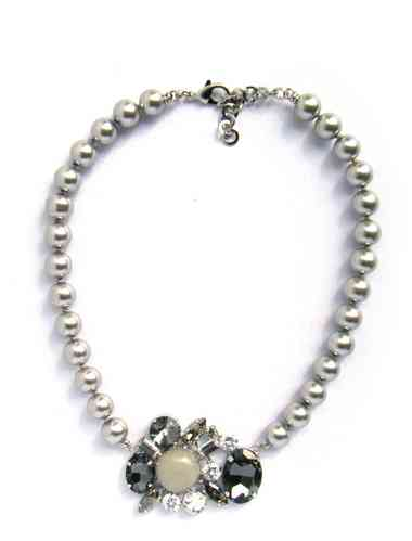 NECKLACE 1709 PEARLS IN SHELL GRAY