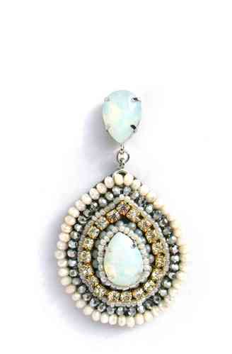 EARRING 1415 WHITE CHAMPAGNE