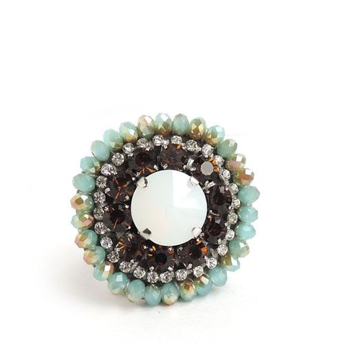 RING 1117 BROWN AND LIGHT BLUE