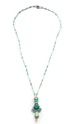 NECKLACE 3085 BLUE