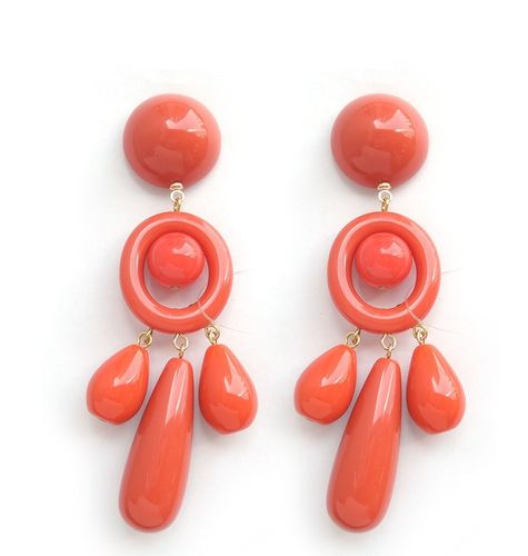 EARRING 059 RED