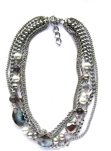 NECKLACE 1575C GREY MEDIUM