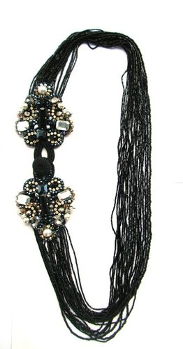 NECKLACE 1990 BLACK LONG