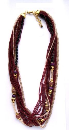 NECKLACE 1466 PURPLE LONG
