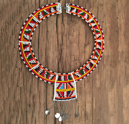 NECKLACE MASAI RANGI NYINGI MACHUNGWA