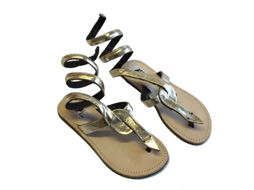 SANDALS  KENYAN ORIGINAL SNAKE GOLD