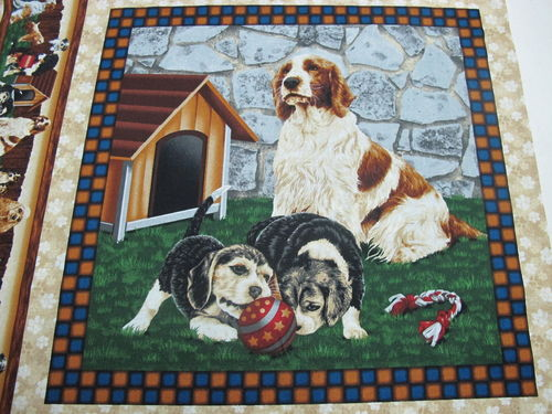 FABRI QUILT.- 4 paw dog pannel 1