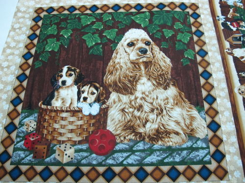 FABRI QUILT.- 4 paw dog pannel 4