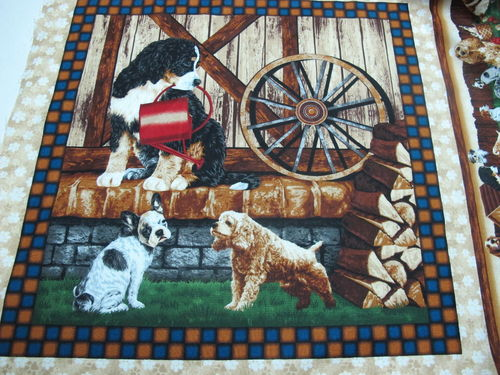 FABRI QUILT.- 4 paw dog pannel 3