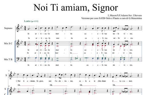 Noi ti amiam, Signor (Nearer, my God, to thee)