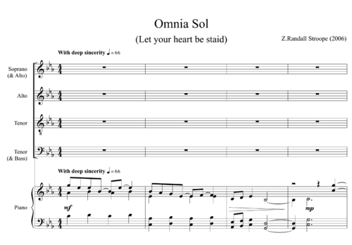 Z Randall Stroope - Omnia Sol (2006)