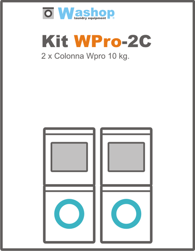 Kit WPro-2C Colonna senza gettoniera