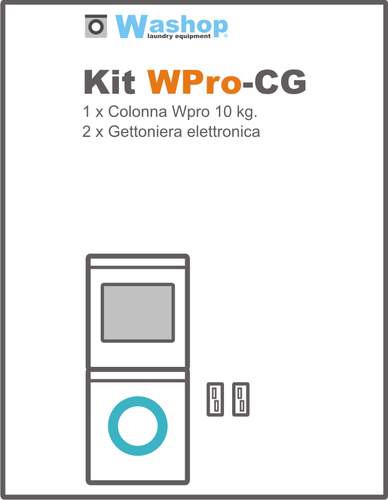 Kit WProCG Colonna con gettoniera