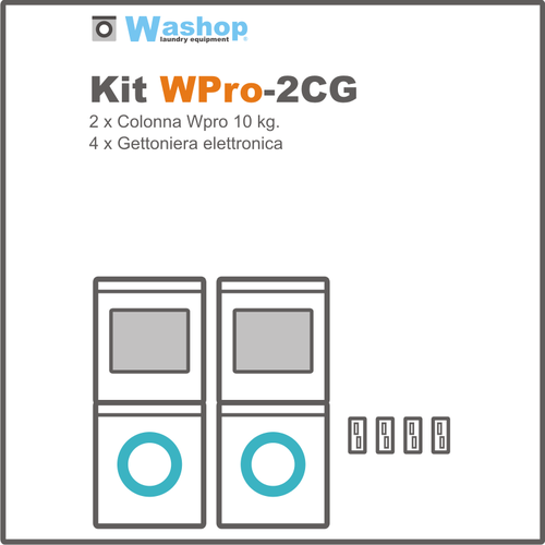 Kit Wpro2CG Colonna con gettoniera
