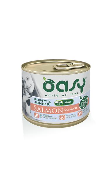 Oasy Puppy&Junior Salmone Mini