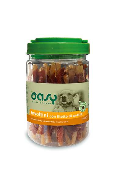 Oasy Dog Snack Involtini Con Filetto Di Anatra 350 gr