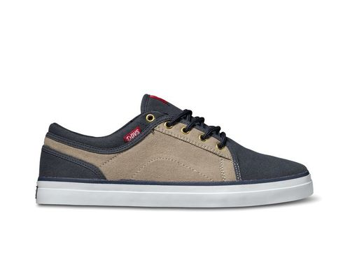 DVS AVERSA Navy Tan Canvas