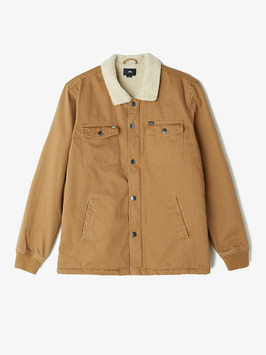 OBEY colton jacket tobacco brown