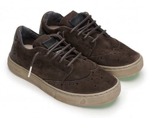 Satorisan KOA SUEDE BITUMEN BROWN