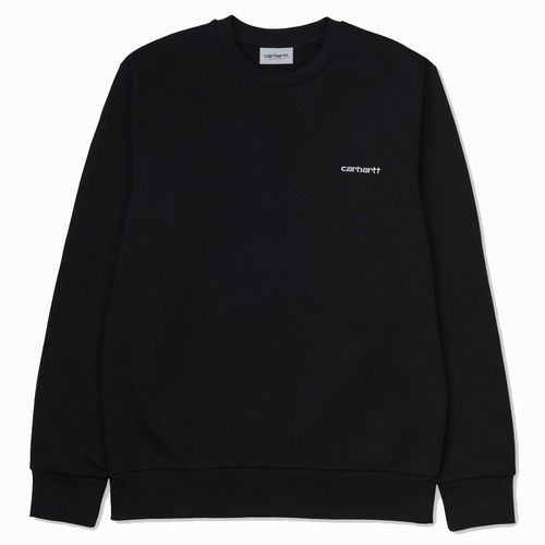 Carhartt script embroidery sweat black white