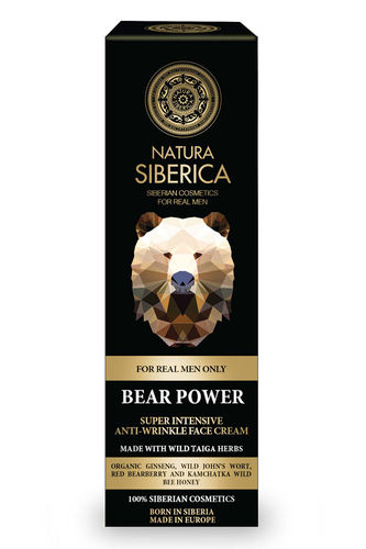 Natura Siberica Man - Bear Power Super Intensive Anti-Wrinkle - Crema Viso Antiage Uomo