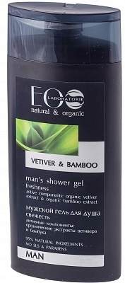 EC-Lab - Shower Gel da Uomo Rinfrescante al Vetiver e Bamboo