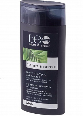 EC-Lab - Shampoo da Uomo Antiforfora al Tea Tree+Propoli (Shampoo Anti Dandruff Tea Tree+Propolis)